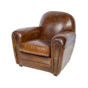 fauteuil club cuir vieilli